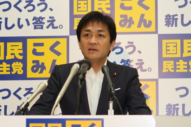 記者会見する国民民主党の玉木雄一郎代表。参院東京選挙区での候補者擁立について「今は最終的な検討をしている」などと述べた