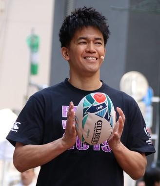 2019年5月12日に行われた「2019ラグビーW杯」イベントに登壇した武井壮さん