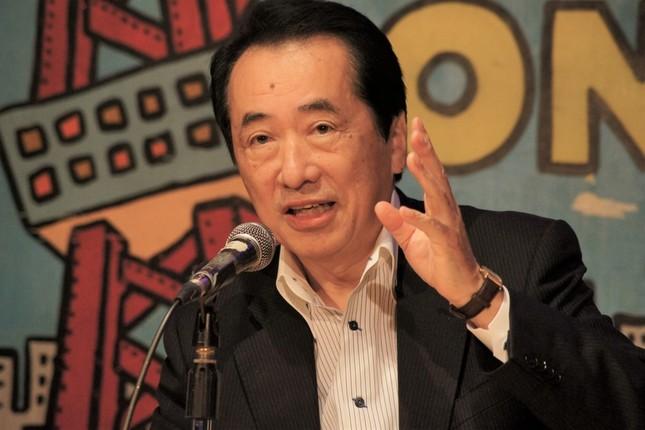 菅直人元首相。ダブル選で「地滑り的勝利を実現することも夢ではありません」と主張している(2012年撮影)