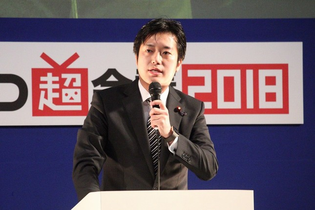 日本維新の会を除名された丸山穂高衆院議員。2018年の「ニコニコ超会議」で撮影