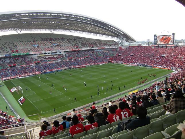浦和-湘南戦が行われた埼玉スタジアム2002(試合当日の写真ではありません)