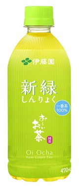 ペットボトルの背を低く抑えた470mlの「お~いお茶 新緑」(伊藤園)(画像は商品リリースから)