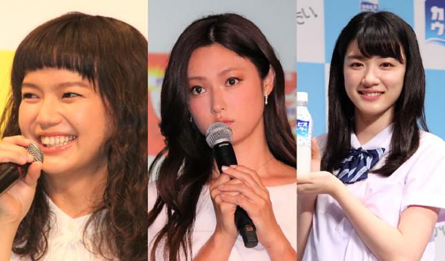 「三姉妹」として活躍中の深田さん、多部さん、永野さん(写真はいずれもJ-CASTニュース)