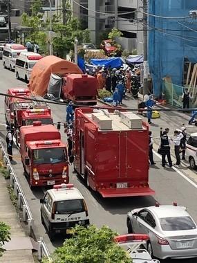 川崎殺傷事件をうけ、論争が起きている(発生現場写真。いーれヴぉ@e_revo01さん提供)