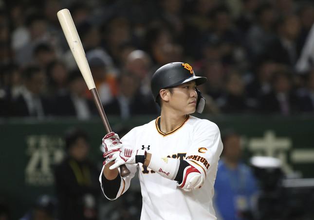 2019 MLB 開幕戦 プレシーズンゲームでの坂本勇人(写真:AP/アフロ)
