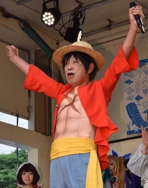 笹川会長のルフィコスプレは会場中の度肝を抜いた