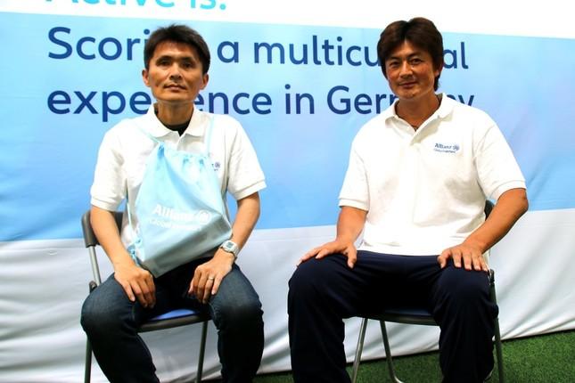 名良橋晃氏(左)と岩本輝雄氏(右)