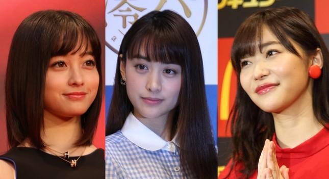 摂津さんの好みの女性は?(左から橋本環奈さん、山本美月さん、指原莉乃さん)