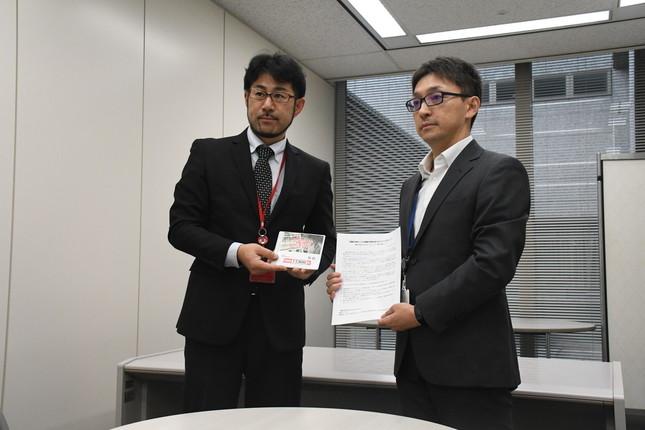 呼びかけ人の畠山さん(左)