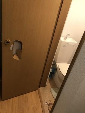 トイレから出られた時の写真(スパート(@spatrt475)さん提供)