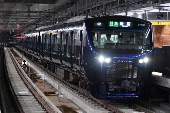 JRに直通し渋谷・新宿まで顔を出す相鉄12000系(プレスリリースより)