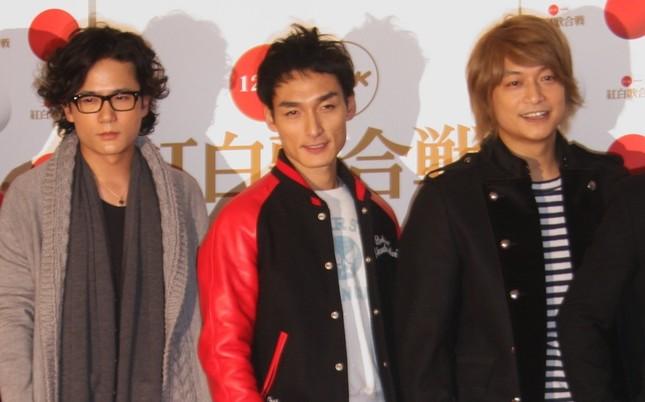 元SMAPの3人(写真は2010年にの紅白歌合戦出場時)
