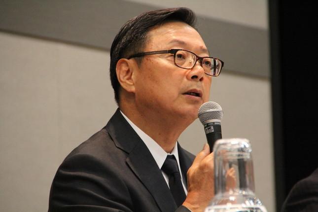 会見したセブン&アイHDの後藤克弘・代表取締役副社長