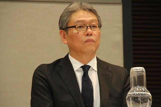 会見したセブン&アイ・ネットメディアの田口広人社長