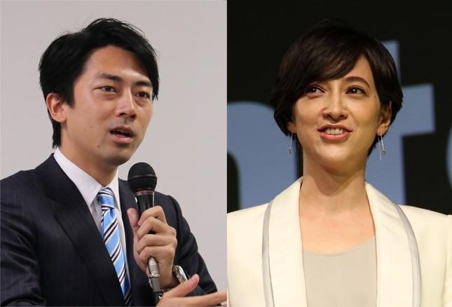 結婚することを発表した小泉進次郎衆議院議員(左)と滝川クリステルアナウンサー(右)