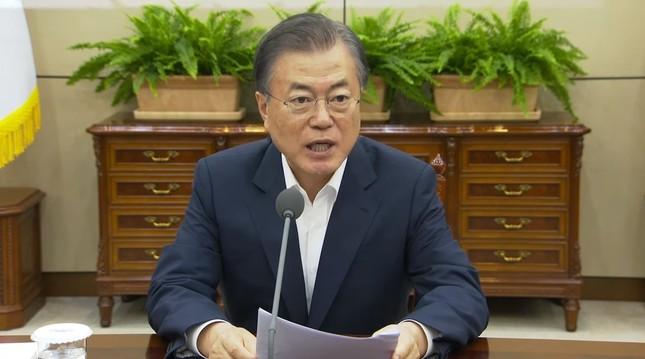 文在寅(ムン・ジェイン)大統領の「平和経済」への本気度は?(写真は青瓦台の動画から)