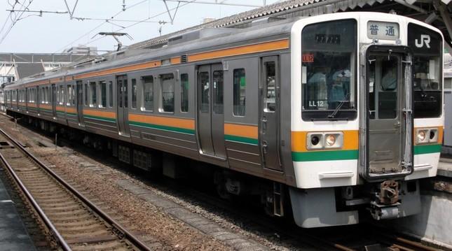 東海道本線静岡エリアは、短い編成の普通列車を長時間乗り継ぐ区間になる(Wikimedia Commonsより)