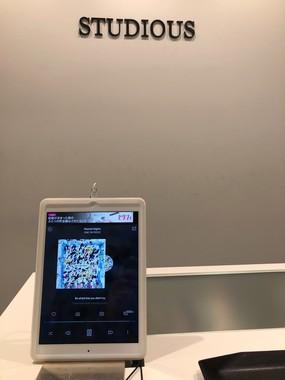 STDUDIOUSに設置されたタブレット/武田(@nqrv6)さん提供