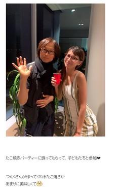 吉川ひなのさんのブログに公開された2ショット