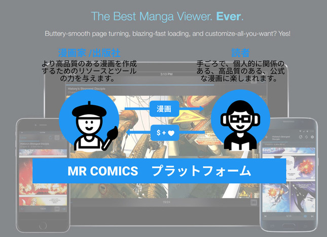 Manga RockからMR COMICSへ