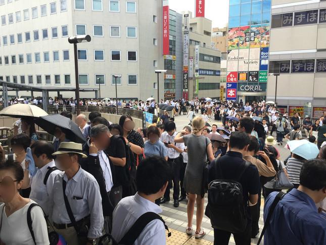 JR三鷹駅南口、2019年9月9日午前撮影