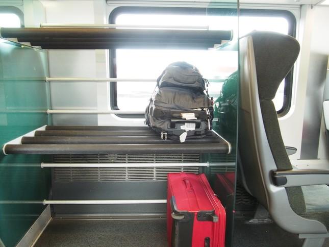 チェコとオーストリアを結ぶ特急「レイルジェット」にある荷物置場。