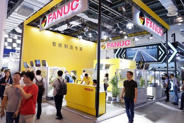日本企業の中では目立ったファナックのブース
