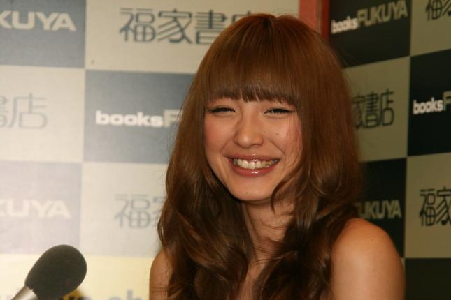 藤原さんと出会ったころの木下優樹菜さん(2008年)