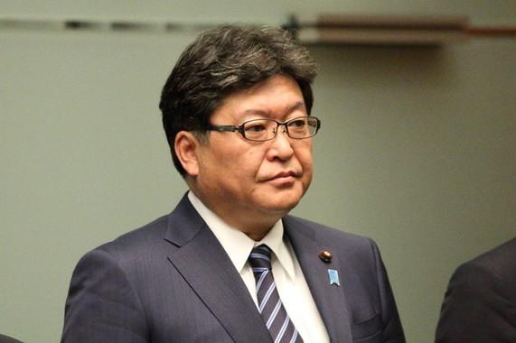 萩生田光一文科相は、官邸の指示を否定(2017年撮影)