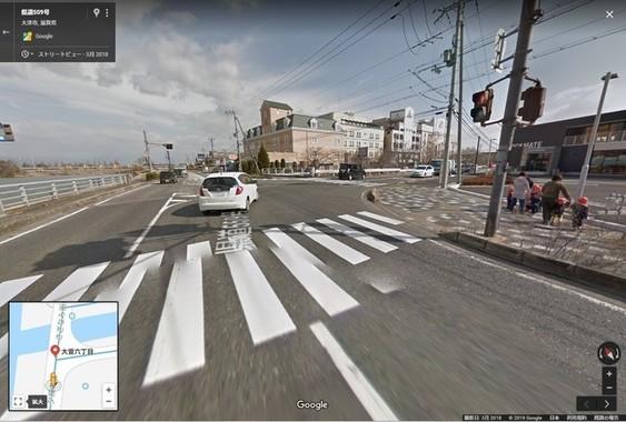 事故現場のストリートビュー画像(グーグルマップから)