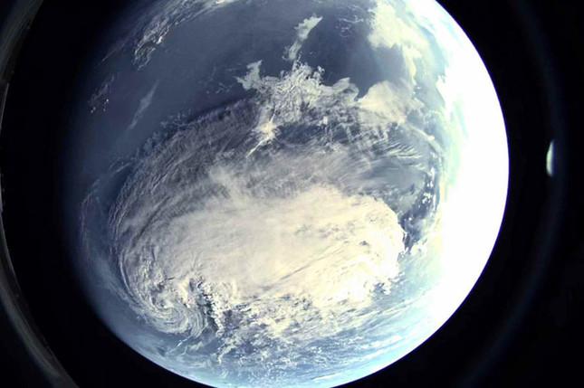ミサイルから撮影された地球の写真も公開した(写真は労働新聞ウェブサイトから)