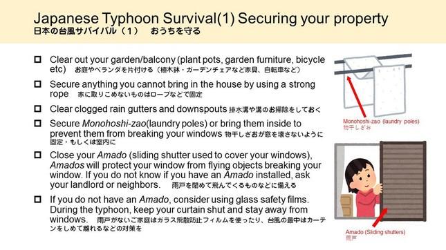 日本の台風サバイバル(1)(亀田総合病院提供)