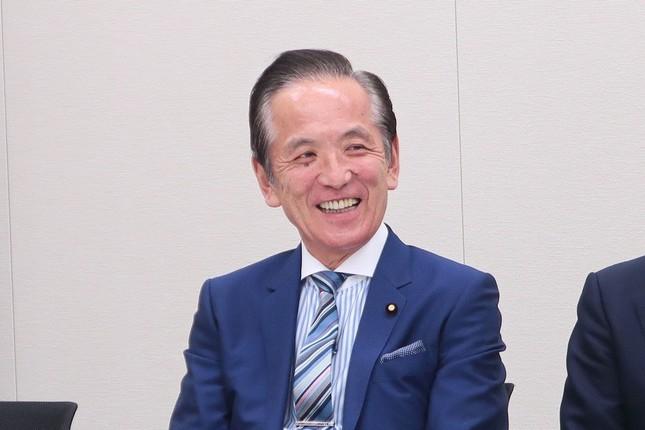 中村喜四郎・衆院議員。衆院選では14勝無敗だ