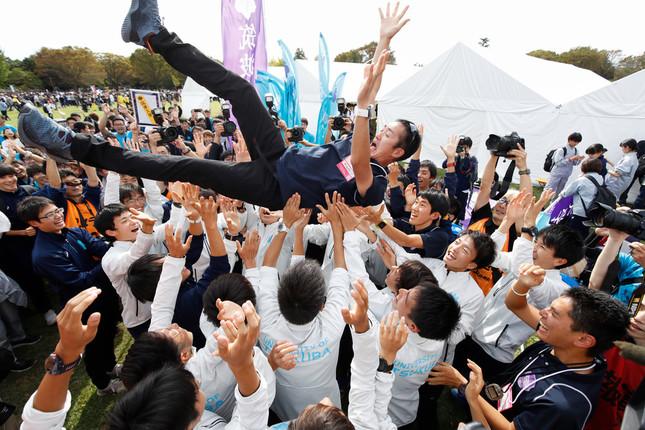 26年ぶりに本戦出場を決めた筑波大(写真:森田直樹/アフロスポーツ)