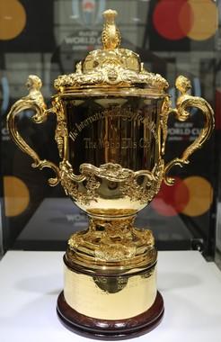 ラグビーW杯で、最多タイ優勝となった南アが掲げた「エリス杯」