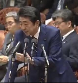 11月6日の衆院予算委で答弁する安倍首相(画像は衆院インターネット審議中継サイトの動画より)