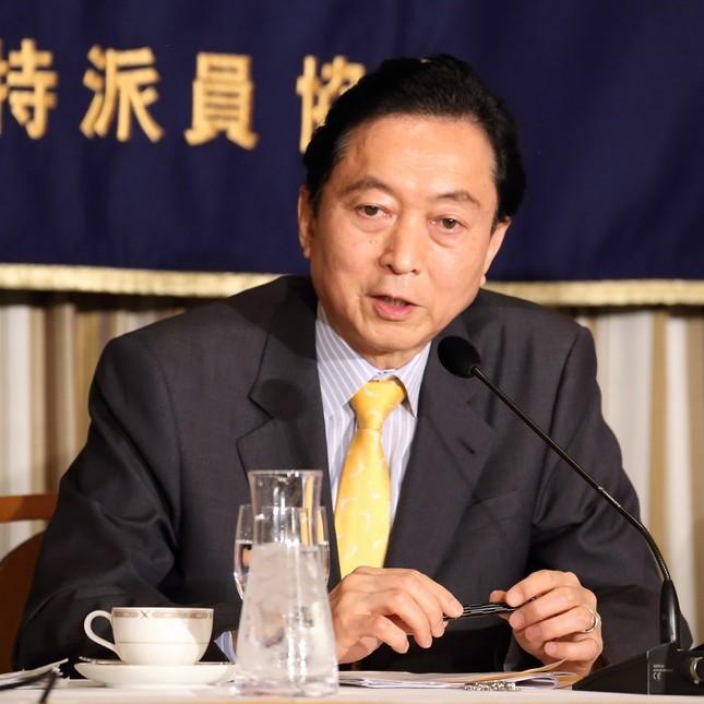鳩山由紀夫元首相(2015年撮影)