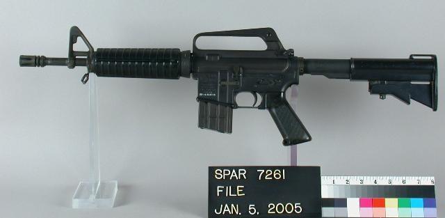 使用された可能性があるXM177と近い種類の銃器。米空軍で使用されたGAU-5A
