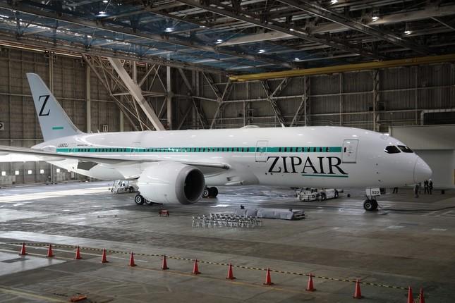 日本航空(JAL)で運航されていたボーイング787-8型機を改装した。垂直尾翼にシンボルマークの「Z」を入れた。機体側面にはグリーンのラインを入れて、ブランドの語源のひとつでもある、矢が素早く飛ぶ様子(ZIP)を表した。