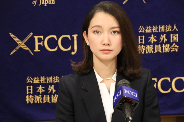 伊藤詩織氏(写真は2019年12月19日、日本外国特派員協会での会見)