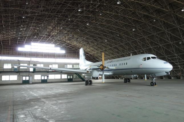 羽田空港で保管されていたYS-11量産1号機(国立科学博物館提供)