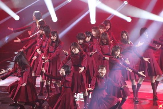 「不協和音」リハーサルでの欅坂46