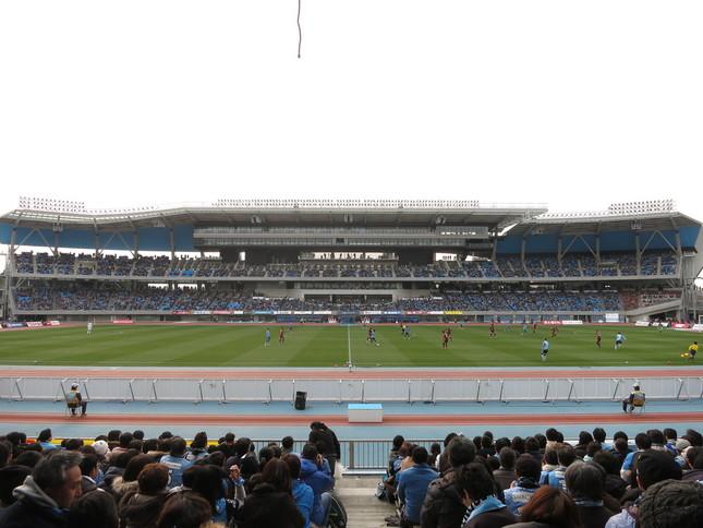 等々力陸上競技場(試合当日の写真ではありません)