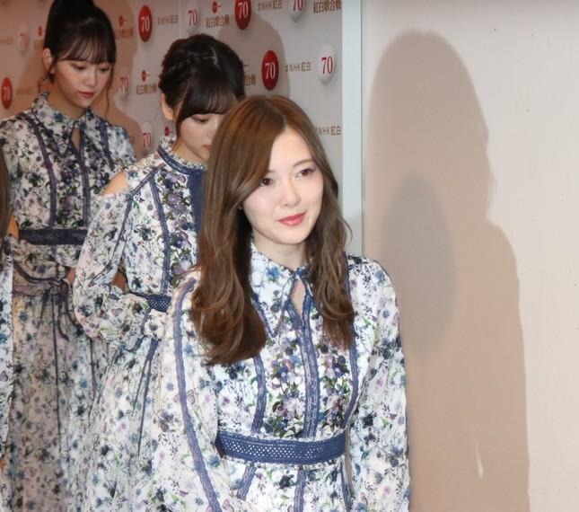 白石麻衣さん(2019年紅白歌合戦囲み取材で撮影)