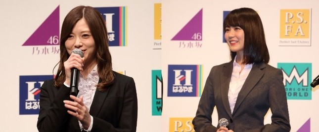 白石麻衣さん(左)と生田絵梨花さん(右)(2018年撮影)
