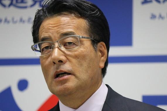 民進党代表などを歴任した野党統一会派の岡田克也衆院議員(2016年撮影)。ヤジを受けた際の体験談を披露した