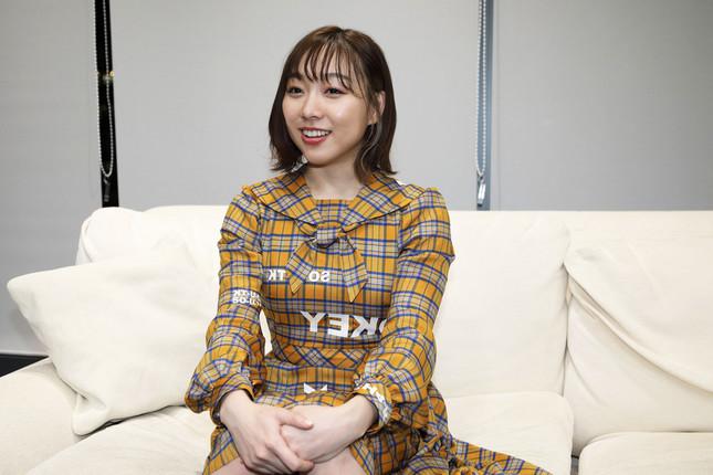 SKE48の須田亜香里さん。26枚目のシングル「ソーユートコあるよね?」(2020年1月15日発売)で、初めてのセンターポジションに起用された