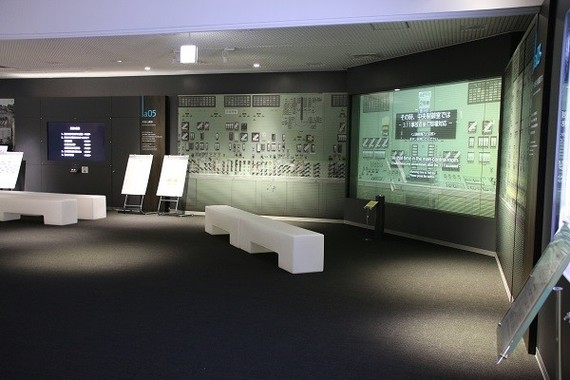 2階の展示「その時、中央制御室では」
