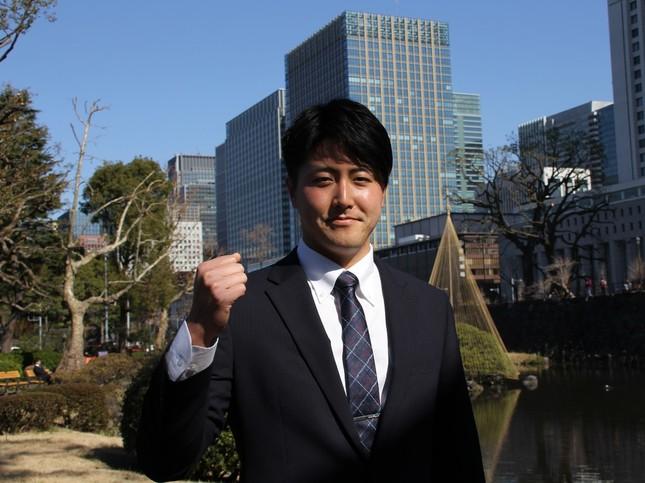 第二の人生に向けて意気込む森山恵佑氏(2020年2月撮影)