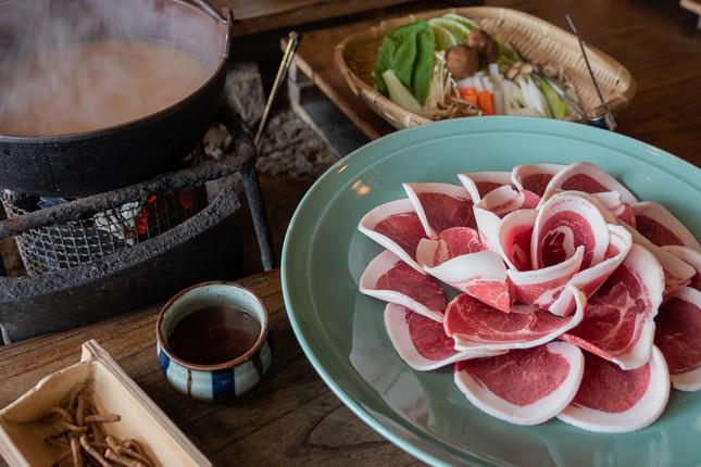 見事な鍋奉行ぶりが光った小池栄子さん(写真はぼたん鍋のイメージ画像)